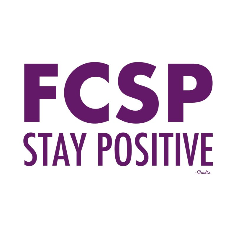 Stay Positive (Purple Font) Home Throw Pillow by The FCSP Foundation Shop