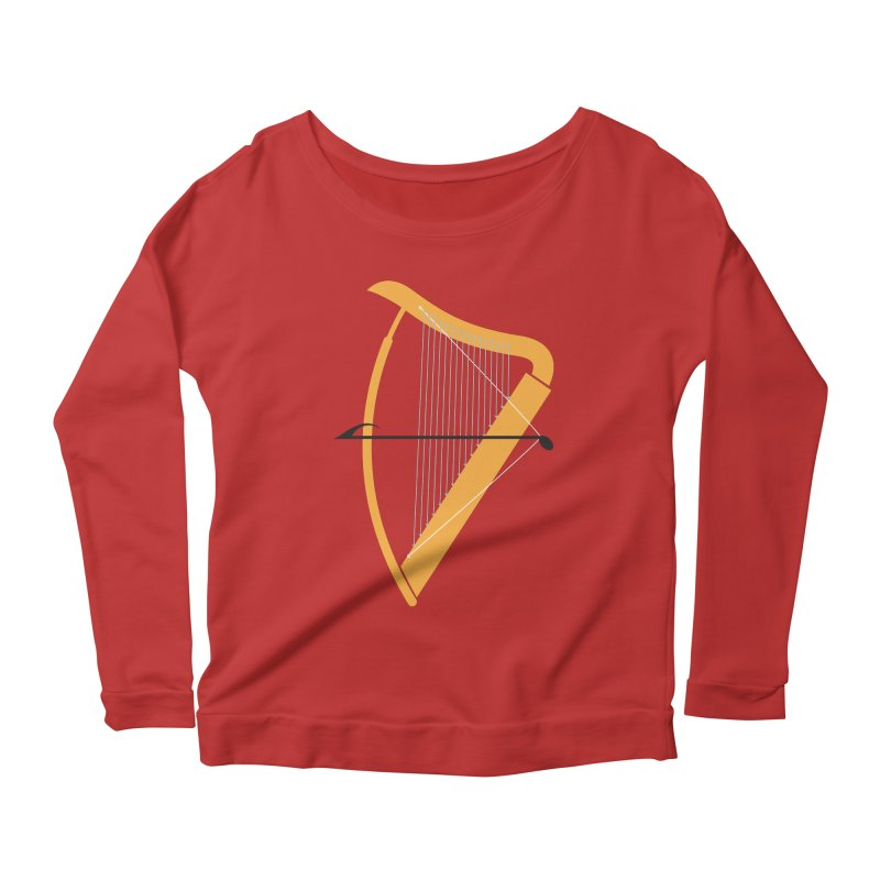 Archery Women's Longsleeve Scoopneck  by fdegrossi's Artist Shop