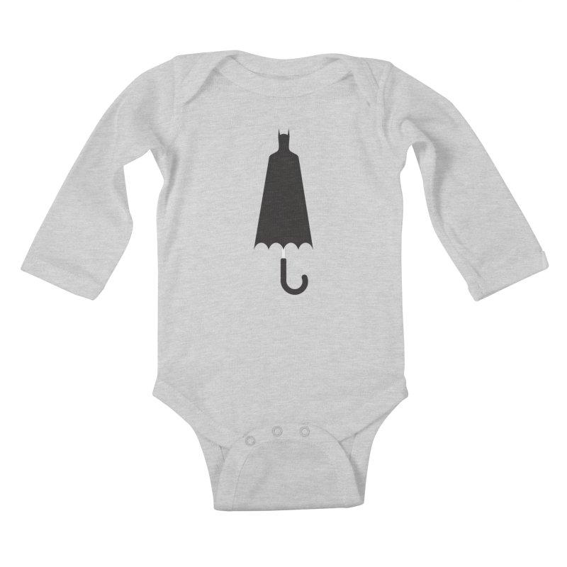 Bat-Rain Kids Baby Longsleeve Bodysuit by fdegrossi's Artist Shop