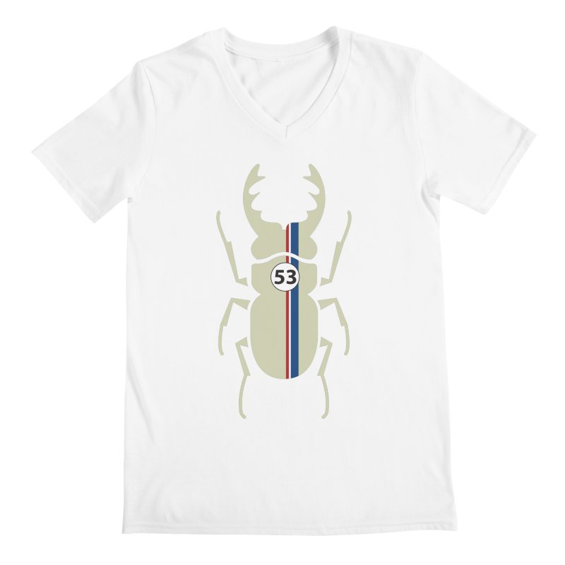 Beetle Men's V-Neck by fdegrossi's Artist Shop