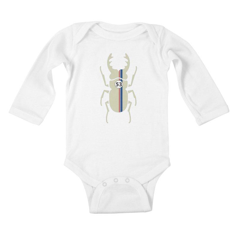 Beetle Kids Baby Longsleeve Bodysuit by fdegrossi's Artist Shop