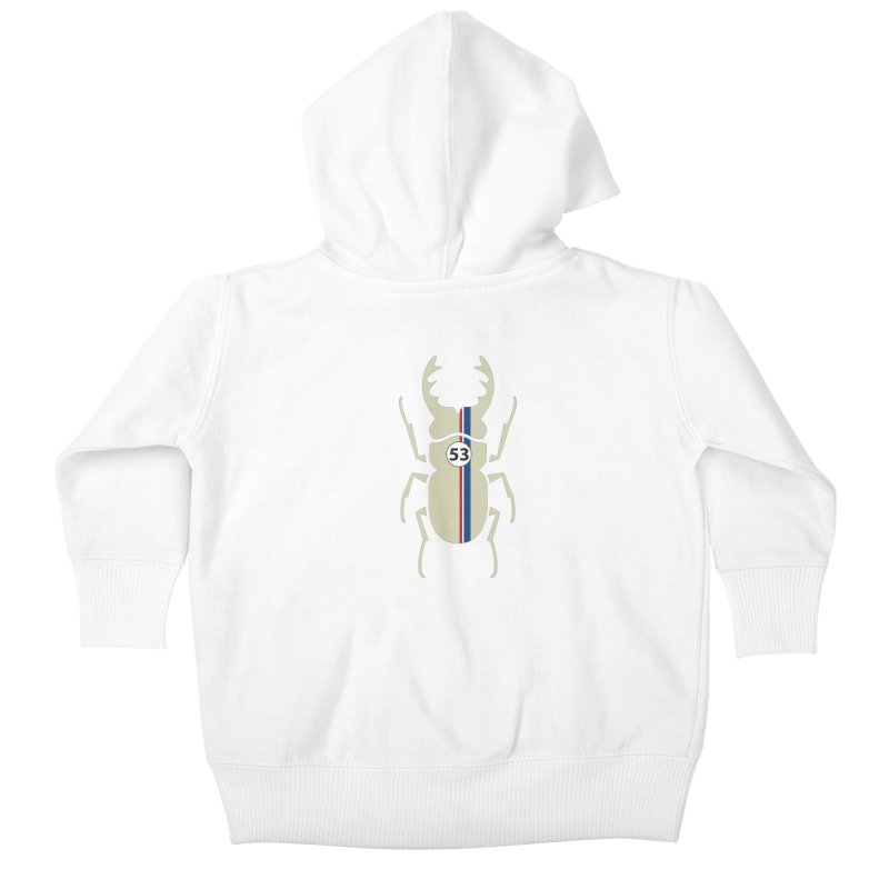 Beetle Kids Baby Zip-Up Hoody by fdegrossi's Artist Shop