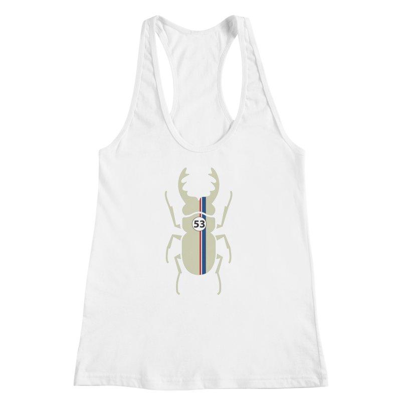 Beetle Women's Racerback Tank by fdegrossi's Artist Shop