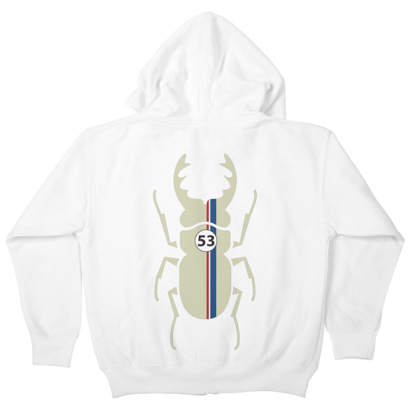 Beetle Kids Zip-Up Hoody by fdegrossi's Artist Shop