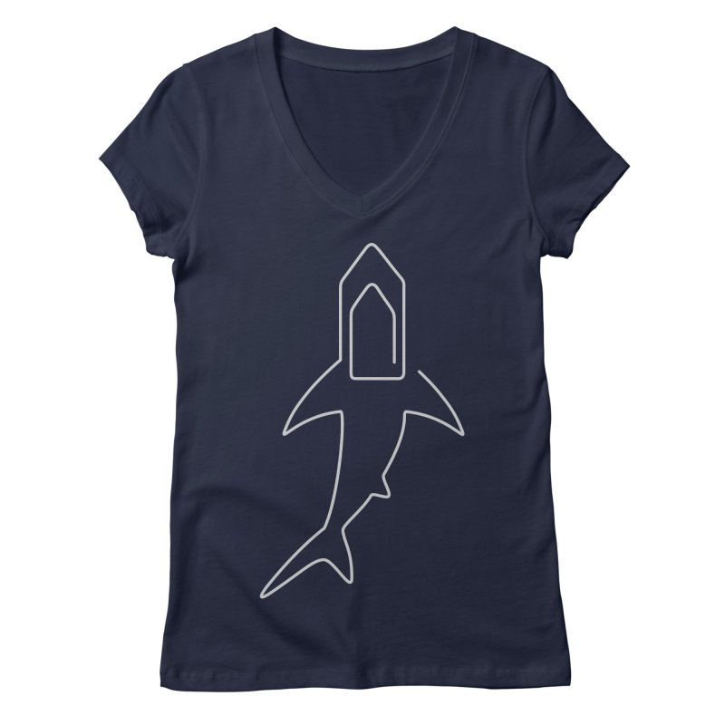 Clip Women's V-Neck by fdegrossi's Artist Shop