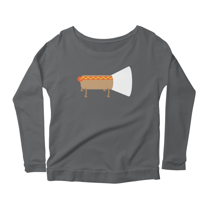 Dog Women's Longsleeve Scoopneck  by fdegrossi's Artist Shop