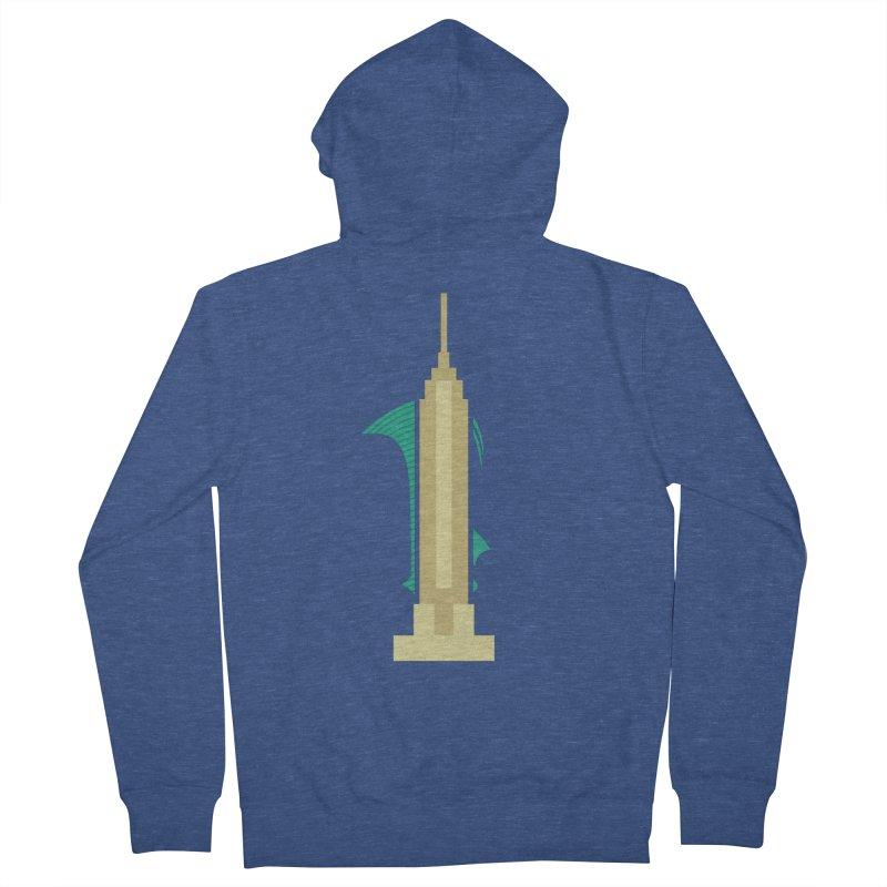 Empire States Men's Zip-Up Hoody by fdegrossi's Artist Shop