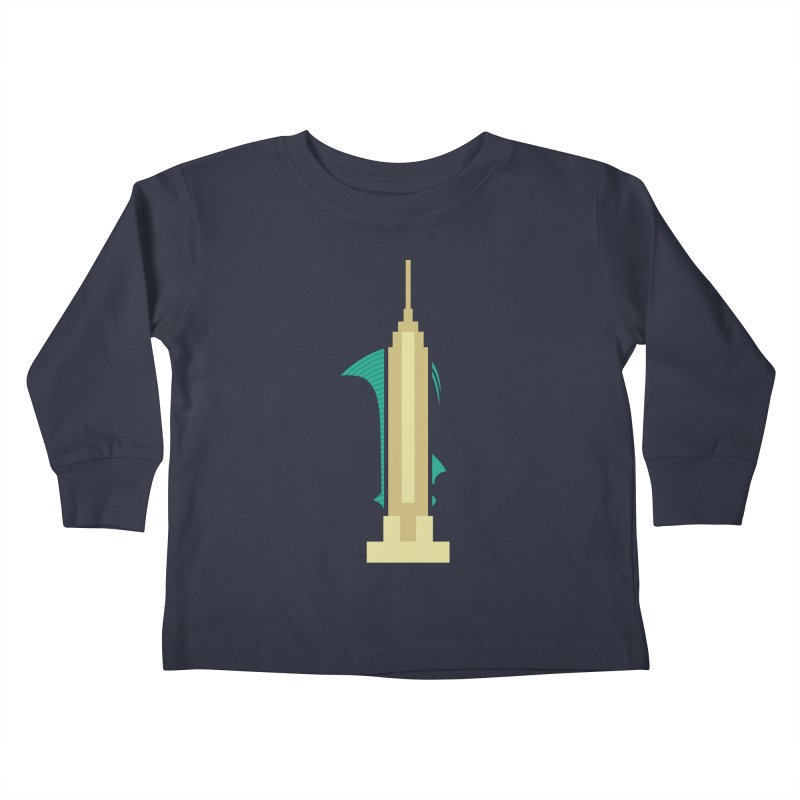 Empire States Kids Toddler Longsleeve T-Shirt by fdegrossi's Artist Shop