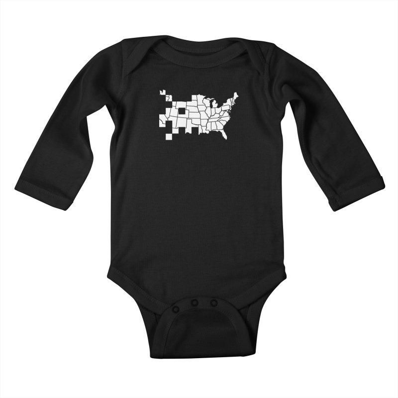 Invader Kids Baby Longsleeve Bodysuit by fdegrossi's Artist Shop