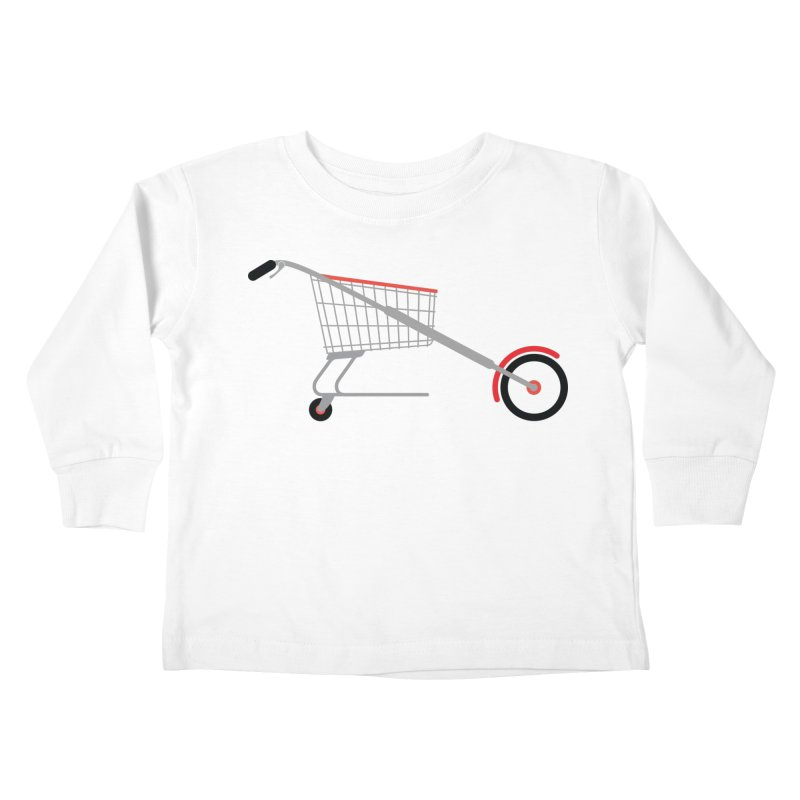 Shopper Kids Toddler Longsleeve T-Shirt by fdegrossi's Artist Shop
