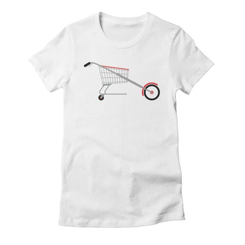 Shopper Women's Fitted T-Shirt by fdegrossi's Artist Shop