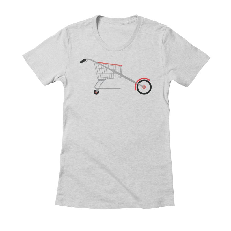 Shopper Women's Fitted T-Shirt by fdegrossi's Artist Shop