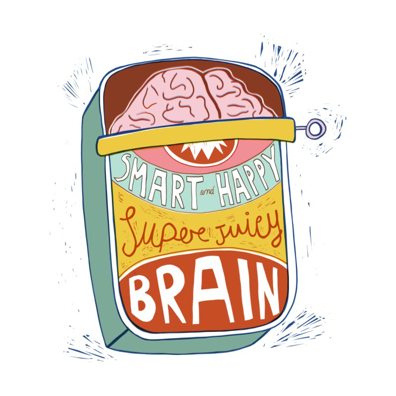 A brain in a can by Federica Ubaldo's Soul Food Shop
