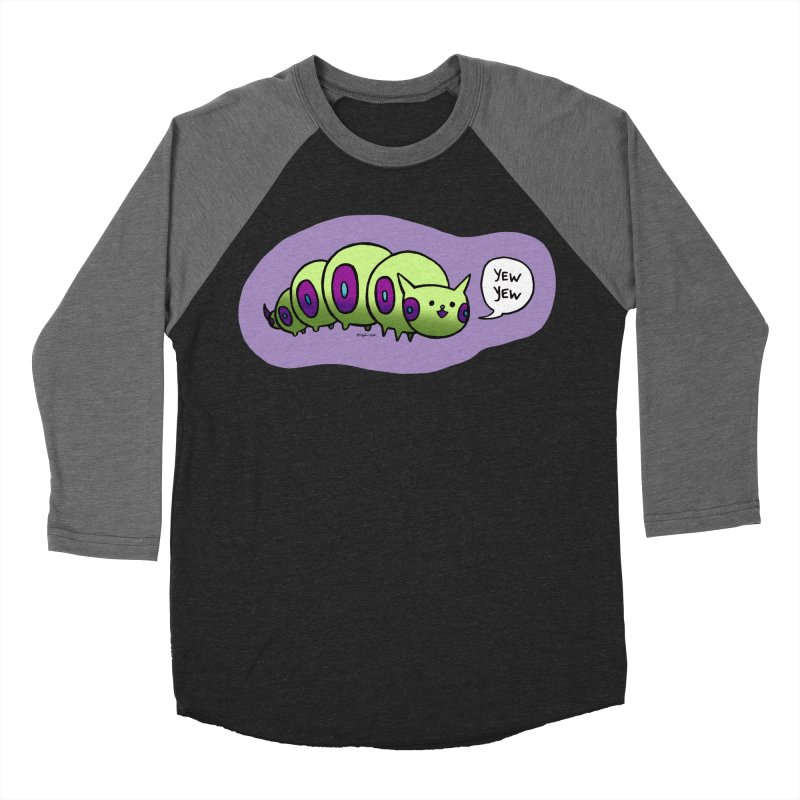 Caterpillar Women's Baseball Triblend Longsleeve T-Shirt by Feeping Creatures Artist Shop