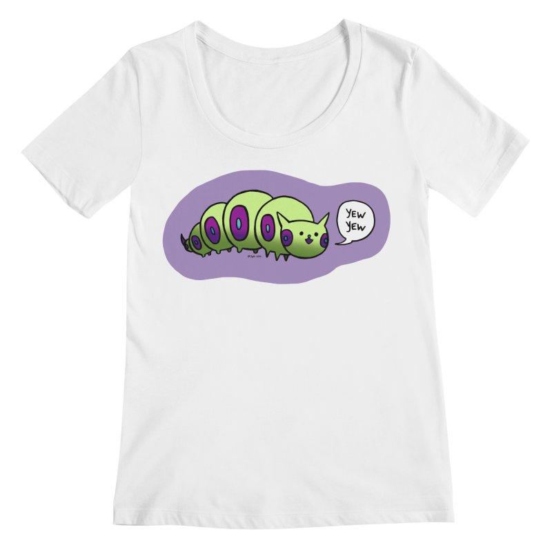Caterpillar Women's Regular Scoop Neck by Feeping Creatures Artist Shop