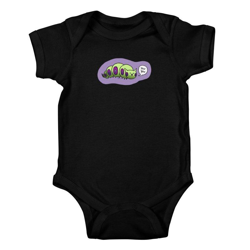 Caterpillar Kids Baby Bodysuit by Feeping Creatures Artist Shop