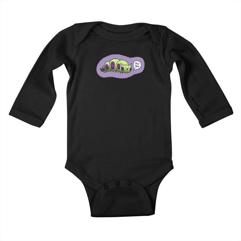 Caterpillar Kids Baby Longsleeve Bodysuit by Feeping Creatures Artist Shop