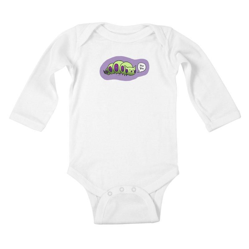Caterpillar Kids Baby Longsleeve Bodysuit by Feeping Creatures Artist Shop