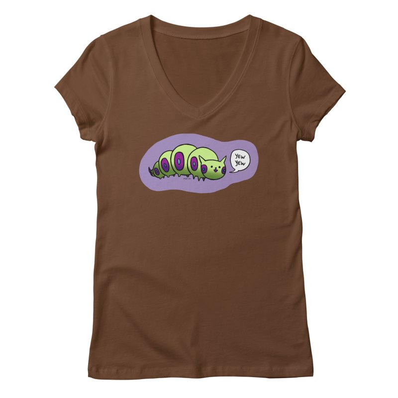 Caterpillar Women's V-Neck by Feeping Creatures Artist Shop