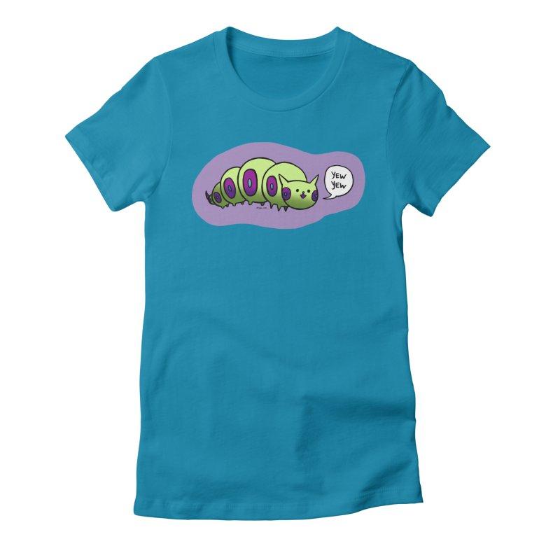 Caterpillar Women's Fitted T-Shirt by Feeping Creatures Artist Shop