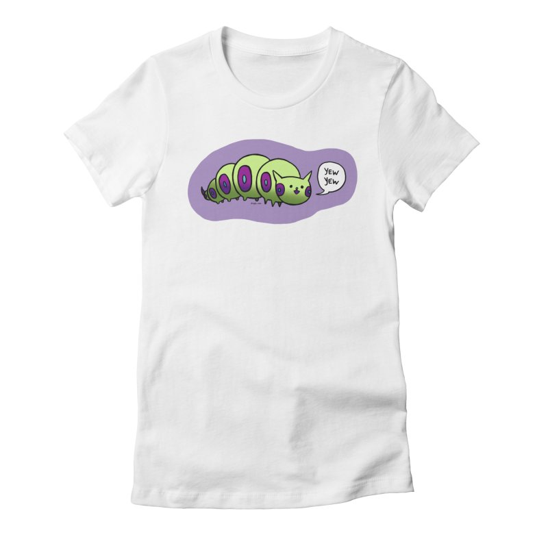 Caterpillar Women's Fitted T-Shirt by Feeping Creatures Artist Shop