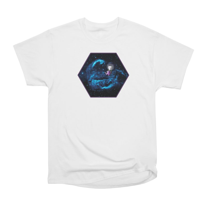 Buzz Nyaldrin the Catstronaut Men's Heavyweight T-Shirt by Feeping Creatures Artist Shop