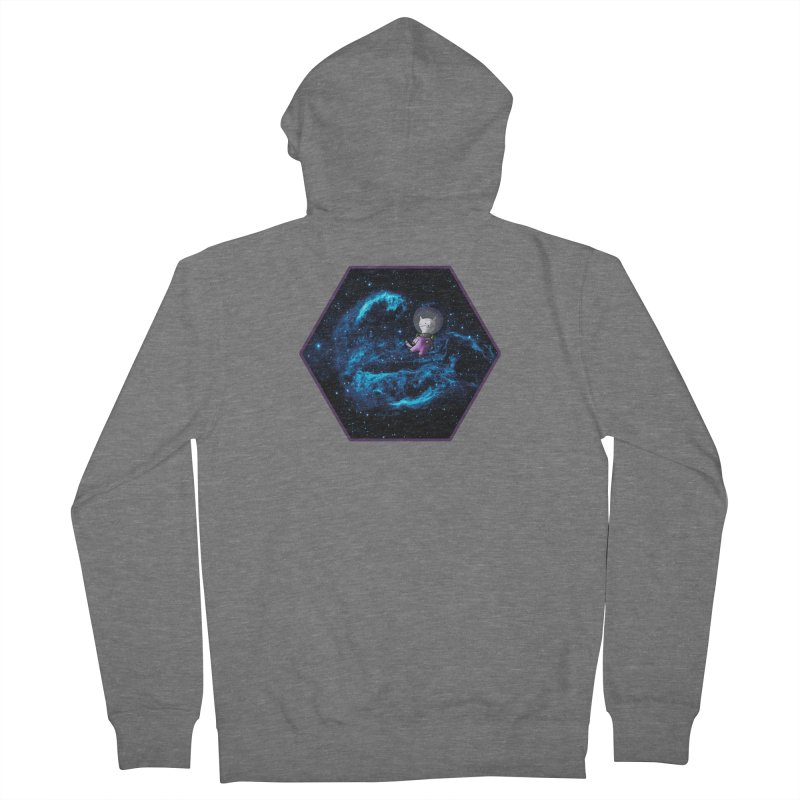Buzz Nyaldrin the Catstronaut Women's French Terry Zip-Up Hoody by Feeping Creatures Artist Shop