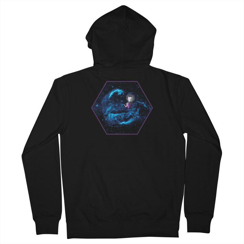 Buzz Nyaldrin the Catstronaut Men's French Terry Zip-Up Hoody by Feeping Creatures Artist Shop