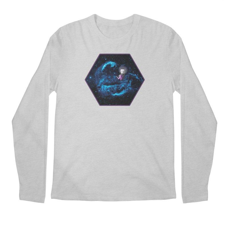 Buzz Nyaldrin the Catstronaut Men's Regular Longsleeve T-Shirt by Feeping Creatures Artist Shop
