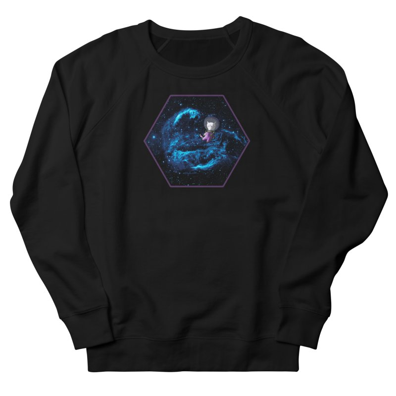 Buzz Nyaldrin the Catstronaut Men's French Terry Sweatshirt by Feeping Creatures Artist Shop
