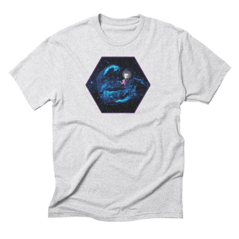 Buzz Nyaldrin the Catstronaut Men's Triblend T-Shirt by Feeping Creatures Artist Shop