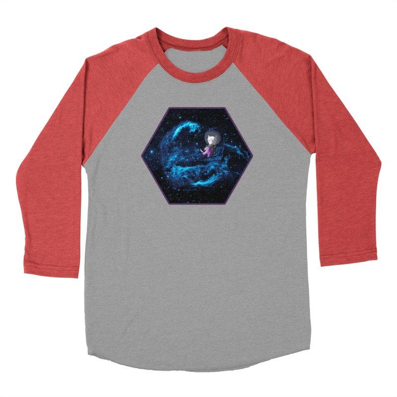 Buzz Nyaldrin the Catstronaut Men's Baseball Triblend T-Shirt by Feeping Creatures Artist Shop