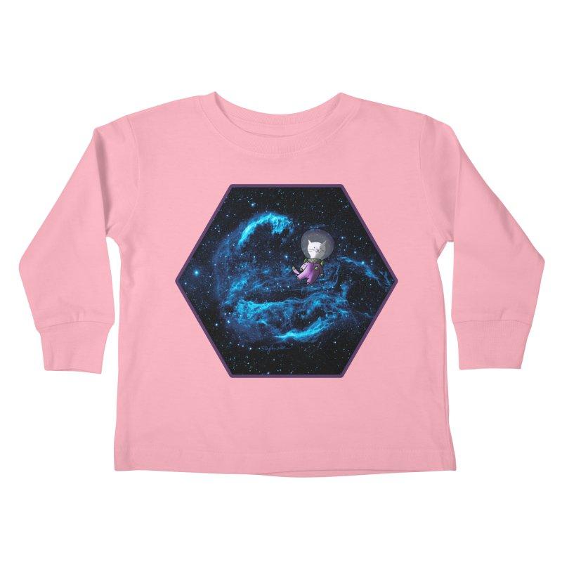Buzz Nyaldrin the Catstronaut Kids Toddler Longsleeve T-Shirt by Feeping Creatures Artist Shop