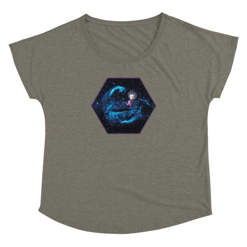 Buzz Nyaldrin the Catstronaut Women's Dolman Scoop Neck by Feeping Creatures Artist Shop