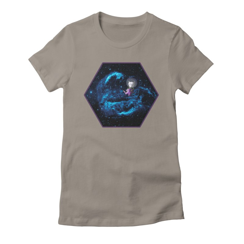 Buzz Nyaldrin the Catstronaut Women's Fitted T-Shirt by Feeping Creatures Artist Shop