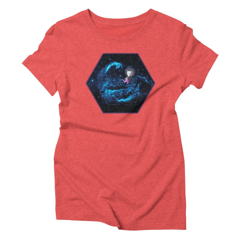 Buzz Nyaldrin the Catstronaut Women's Triblend T-Shirt by Feeping Creatures Artist Shop