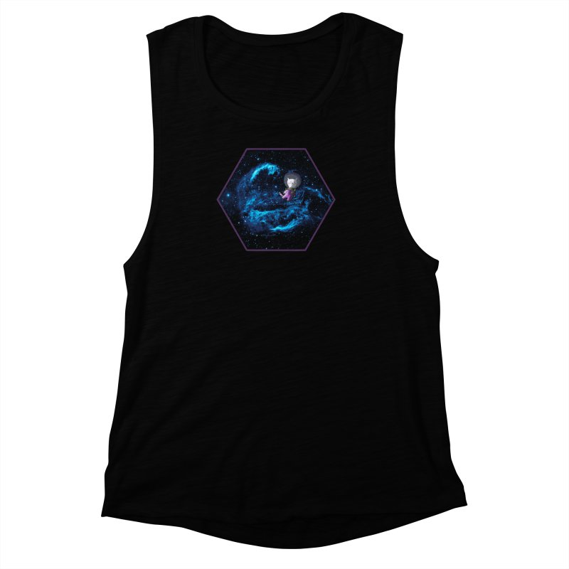 Buzz Nyaldrin the Catstronaut Women's Muscle Tank by Feeping Creatures Artist Shop