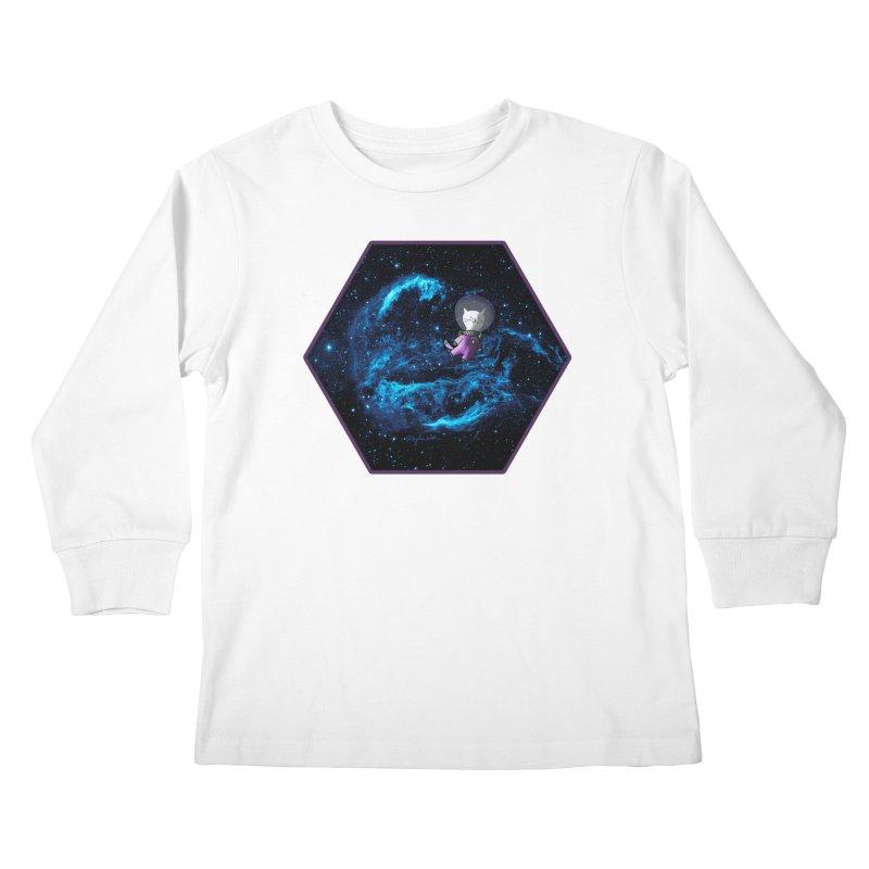 Buzz Nyaldrin the Catstronaut Kids Longsleeve T-Shirt by Feeping Creatures Artist Shop