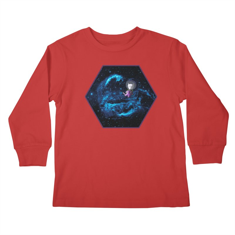 Buzz Nyaldrin the Catstronaut Kids Longsleeve T-Shirt by Feeping Creatures Artist Shop