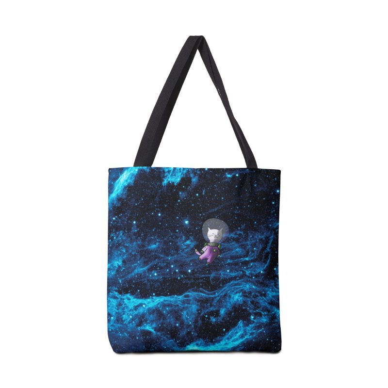Buzz Nyaldrin the Catstronaut Accessories Tote Bag Bag by Feeping Creatures Artist Shop