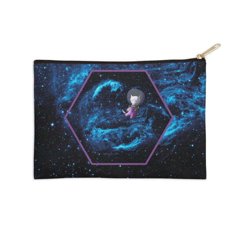 Buzz Nyaldrin the Catstronaut Accessories Zip Pouch by Feeping Creatures Artist Shop