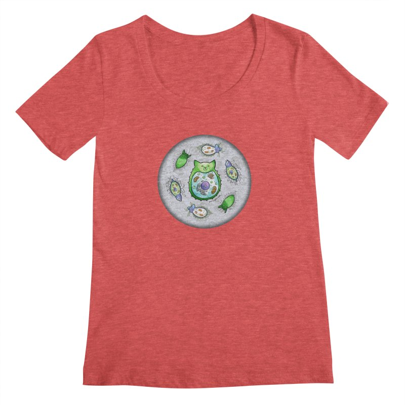 Toxoplasmoids Women's Scoopneck by Feeping Creatures Artist Shop