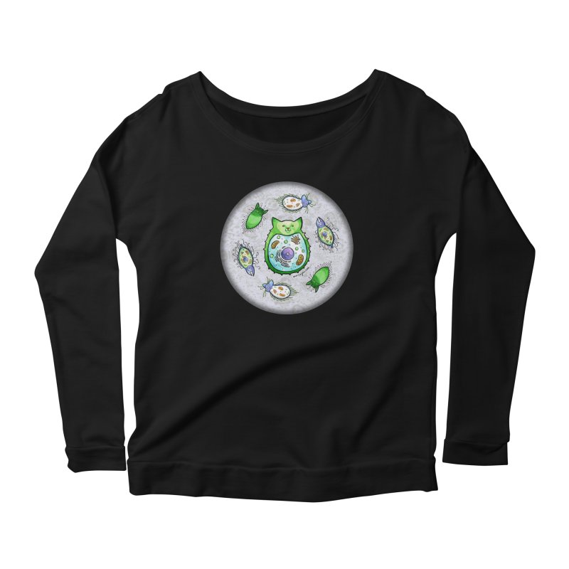 Toxoplasmoids Women's Scoop Neck Longsleeve T-Shirt by Feeping Creatures Artist Shop