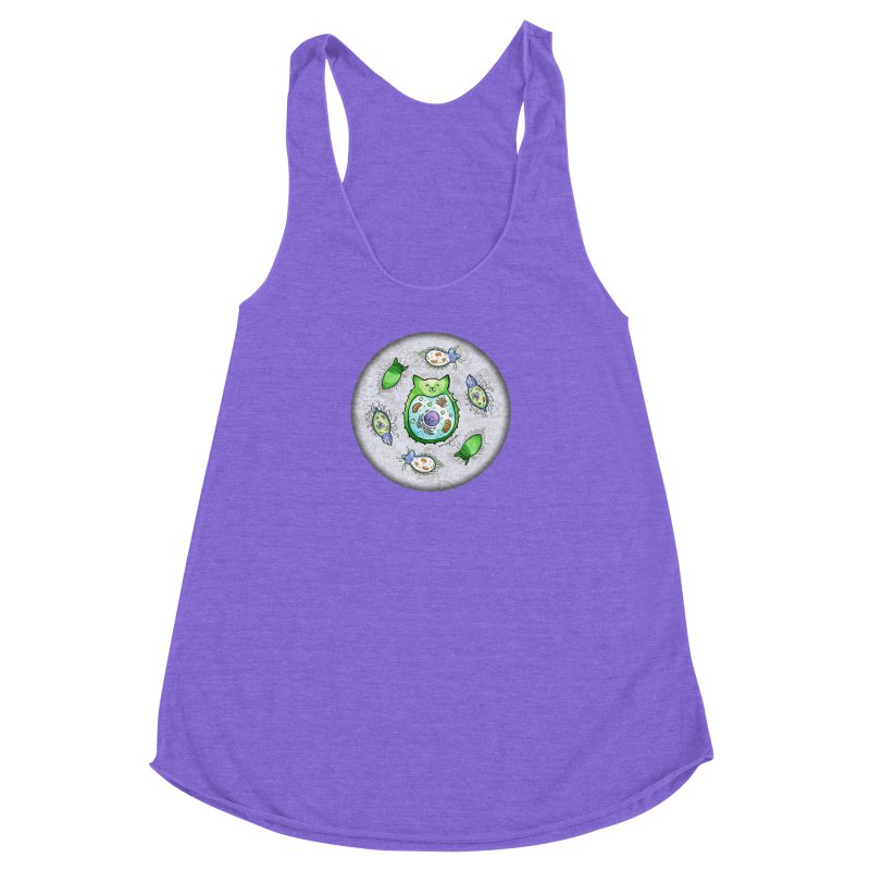 Toxoplasmoids Women's Racerback Triblend Tank by Feeping Creatures Artist Shop