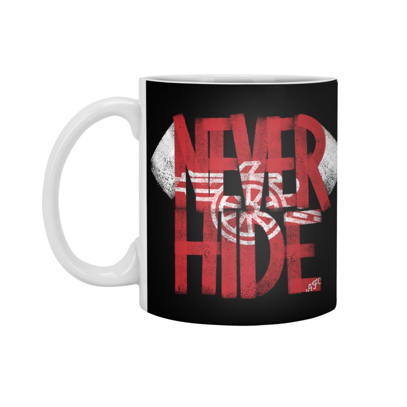 Never Hide AFC Accessories Standard Mug by Fees Tees