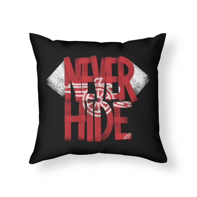 Never Hide AFC Home Throw Pillow by Fees Tees