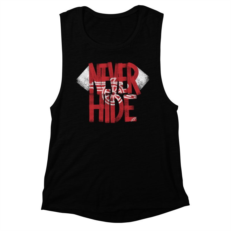 Never Hide AFC Women's Muscle Tank by Fees Tees