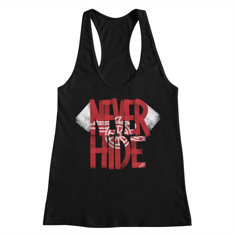 Never Hide AFC Women's Racerback Tank by Fees Tees