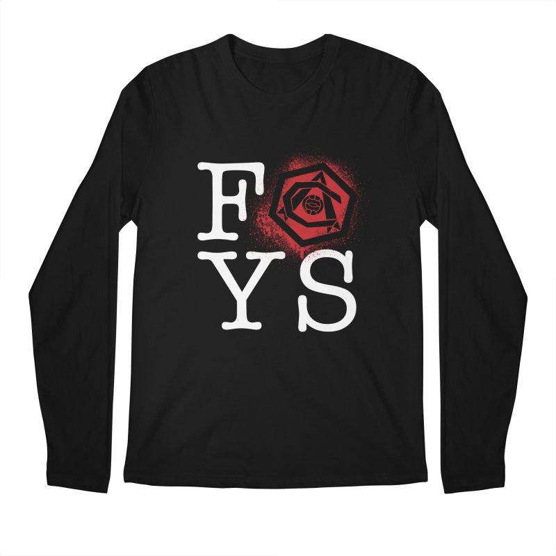 FOYS (BLACK) Men's Regular Longsleeve T-Shirt by Fees Tees