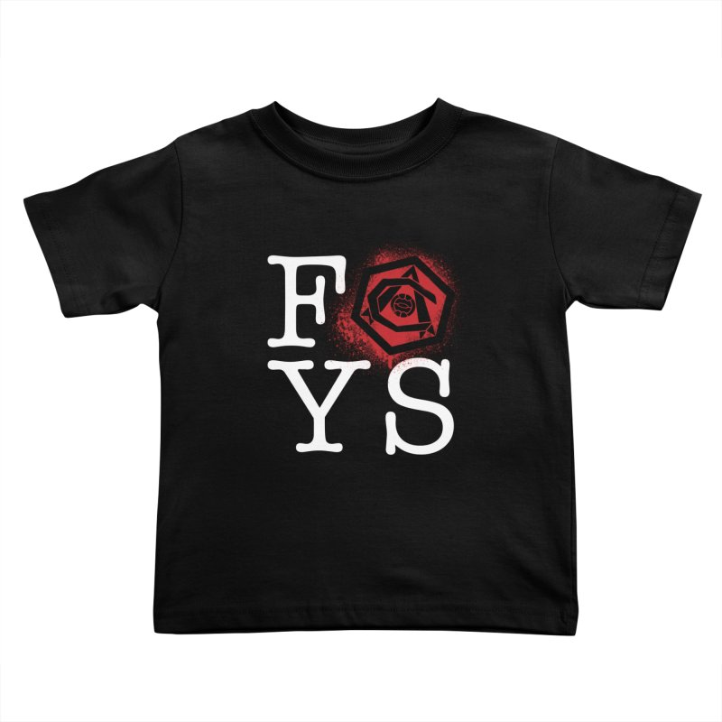 FOYS (BLACK) Kids Toddler T-Shirt by Fees Tees